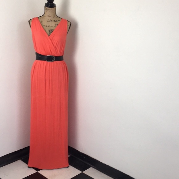 023b15f934f Lush Dresses   Skirts - Lush Nordstrom maxi dress spring sumer L EUC coral
